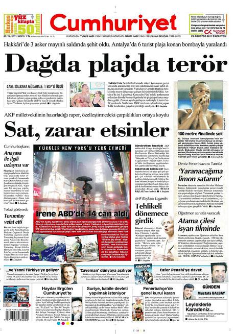 Günün önemli gazete manşetleri (29.08.11) galerisi resim 4