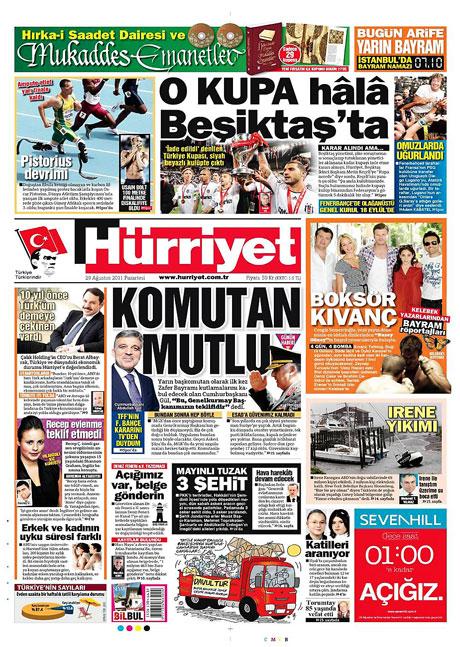 Günün önemli gazete manşetleri (29.08.11) galerisi resim 7