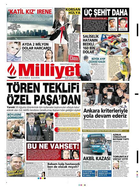Günün önemli gazete manşetleri (29.08.11) galerisi resim 9