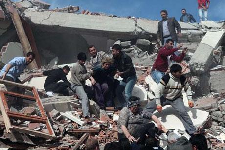 Van'da şiddetli deprem galerisi resim 30