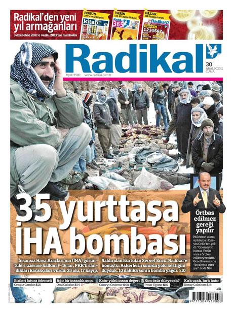 Gazeteler 'Uludere katliamı'nı nasıl gördü? galerisi resim 13