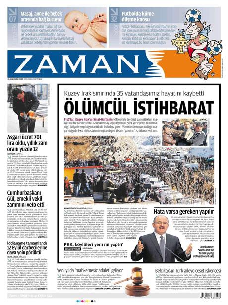 Gazeteler 'Uludere katliamı'nı nasıl gördü? galerisi resim 23