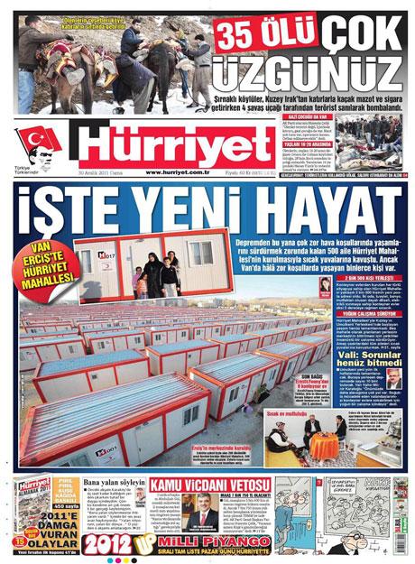 Gazeteler 'Uludere katliamı'nı nasıl gördü? galerisi resim 8