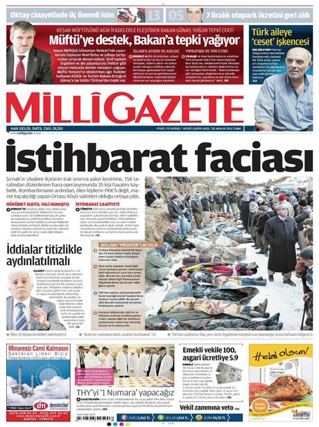 Gazeteler 'Uludere katliamı'nı nasıl gördü? galerisi resim 9
