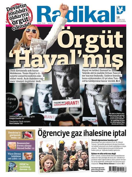 Manşetlerde Hrant Dink kararına tepki var galerisi resim 12