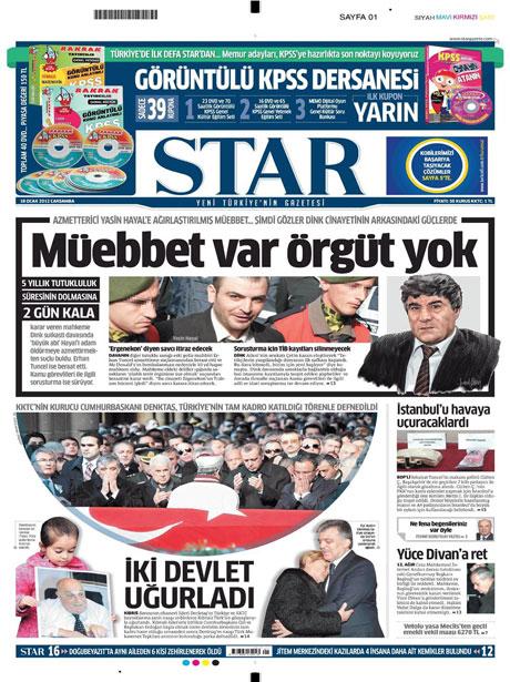 Manşetlerde Hrant Dink kararına tepki var galerisi resim 15