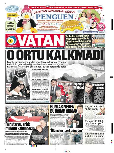 Manşetlerde Hrant Dink kararına tepki var galerisi resim 19