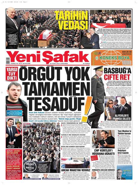 Manşetlerde Hrant Dink kararına tepki var galerisi resim 21