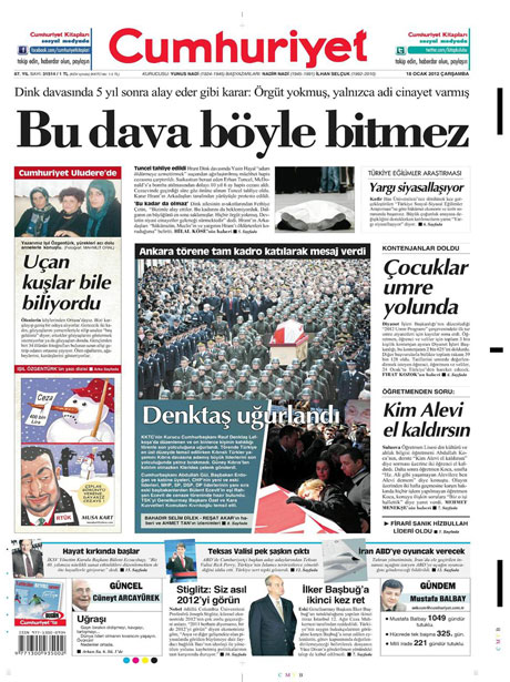 Manşetlerde Hrant Dink kararına tepki var galerisi resim 4