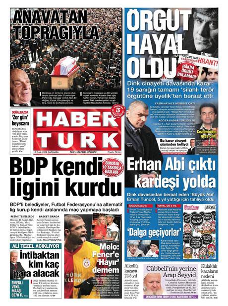 Manşetlerde Hrant Dink kararına tepki var galerisi resim 6