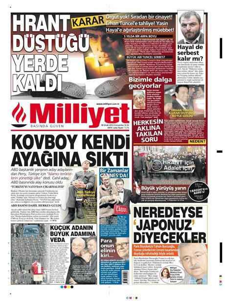 Manşetlerde Hrant Dink kararına tepki var galerisi resim 9