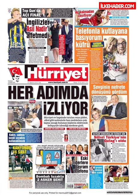 Gazetelerin bugünkü manşetleri galerisi resim 1