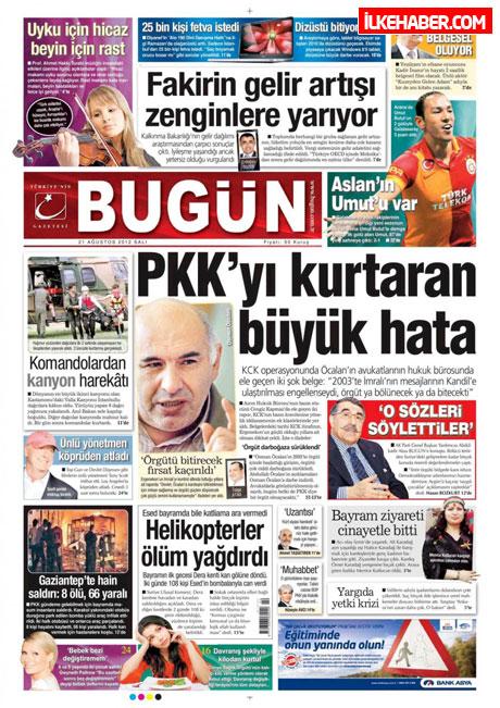 Gazetelerin bugünkü manşetleri galerisi resim 11