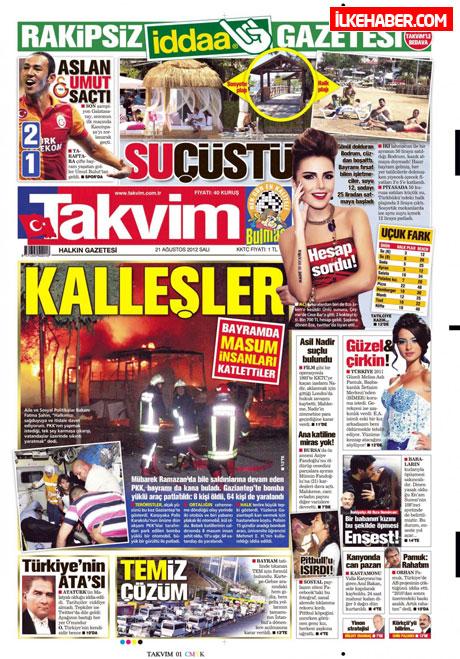 Gazetelerin bugünkü manşetleri galerisi resim 20