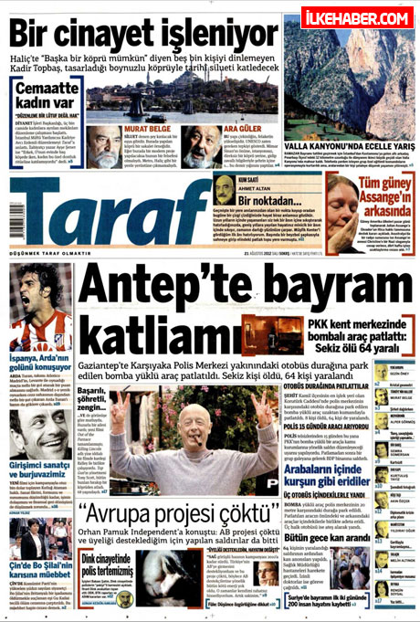 Gazetelerin bugünkü manşetleri galerisi resim 21