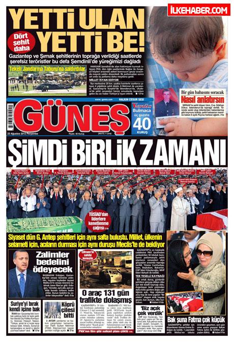 Günün öne çıkan gazete manşetleri galerisi resim 13