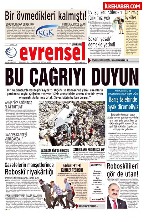 Günün öne çıkan gazete manşetleri galerisi resim 14