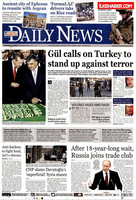 Günün öne çıkan gazete manşetleri galerisi resim 2
