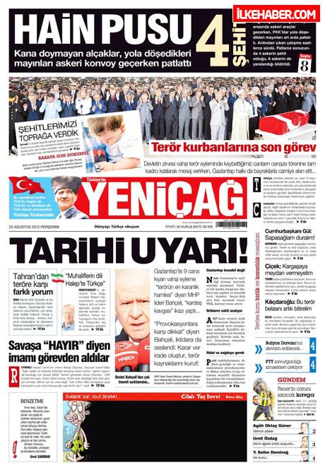 Günün öne çıkan gazete manşetleri galerisi resim 31