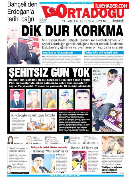 Günün öne çıkan gazete manşetleri galerisi resim 17