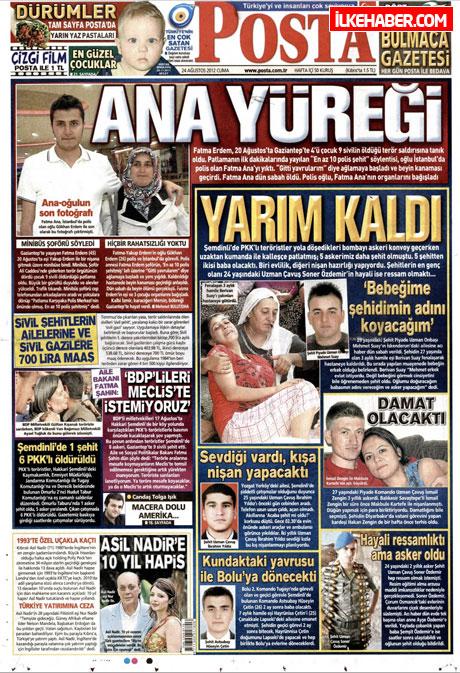 Günün öne çıkan gazete manşetleri galerisi resim 19