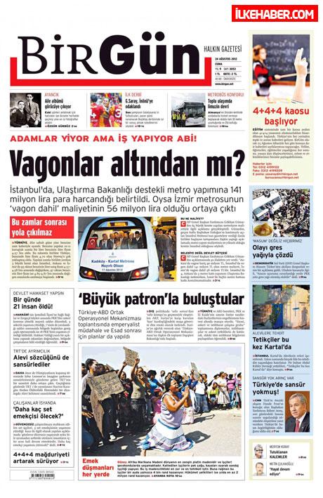 Günün öne çıkan gazete manşetleri galerisi resim 5