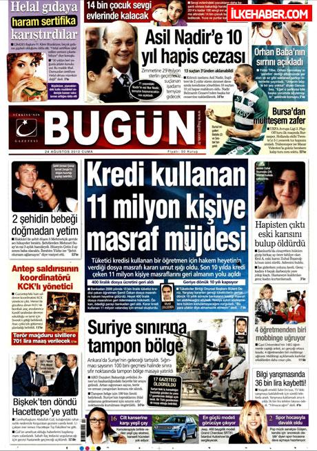 Günün öne çıkan gazete manşetleri galerisi resim 6