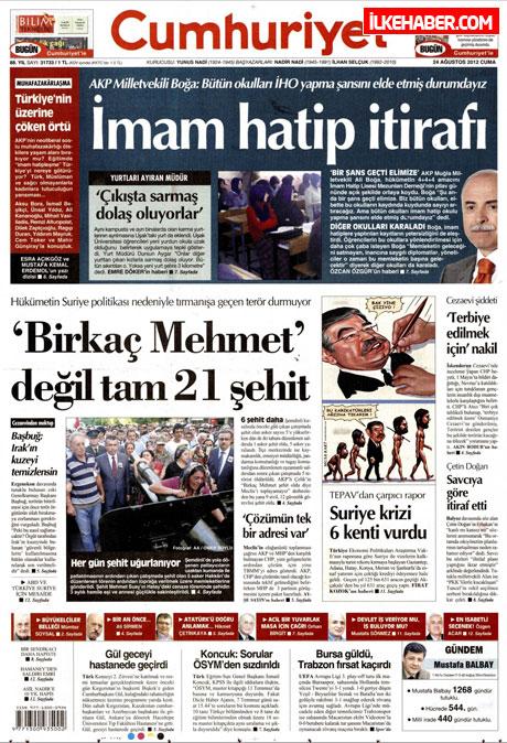 Günün öne çıkan gazete manşetleri galerisi resim 7