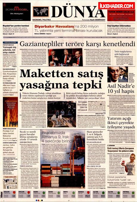 Günün öne çıkan gazete manşetleri galerisi resim 8