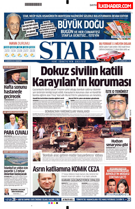 Gazetelerin bugünkü manşetleri galerisi resim 22