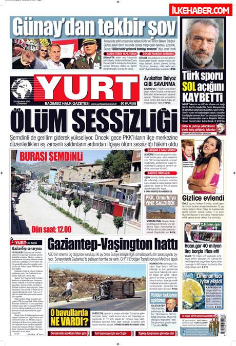 Gazetelerin bugünkü manşetleri galerisi resim 34