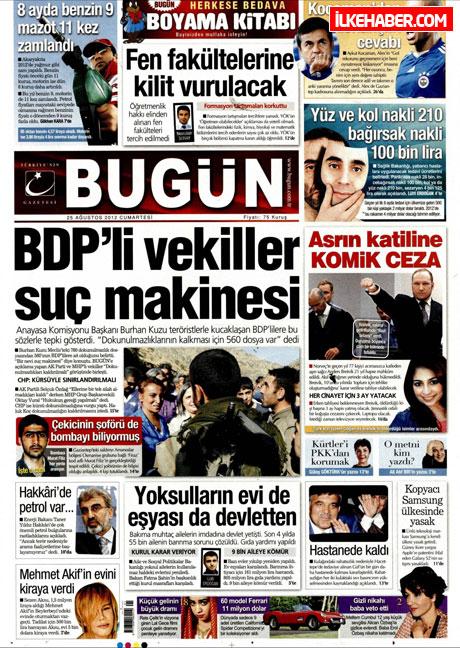 Gazetelerin bugünkü manşetleri galerisi resim 6