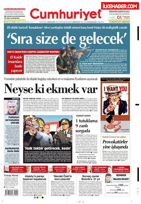 Gazetelerin bugünkü manşetleri galerisi resim 7