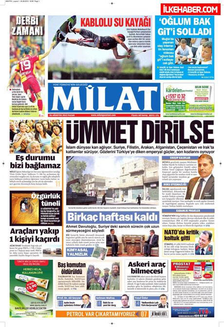 Gazetelerin bugünkü manşetleri ( 25/8) galerisi resim 11