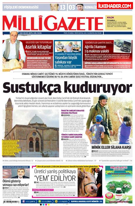 Gazetelerin bugünkü manşetleri ( 25/8) galerisi resim 12