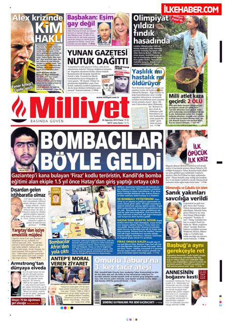Gazetelerin bugünkü manşetleri ( 25/8) galerisi resim 13