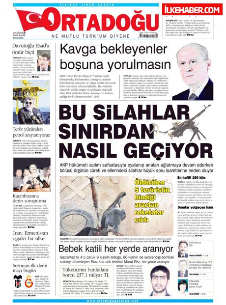 Gazetelerin bugünkü manşetleri ( 25/8) galerisi resim 14