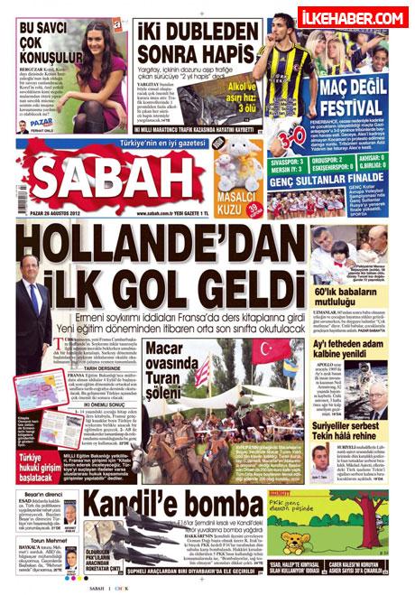Gazetelerin bugünkü manşetleri ( 25/8) galerisi resim 18