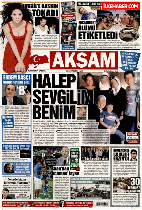Gazetelerin bugünkü manşetleri ( 25/8) galerisi resim 2