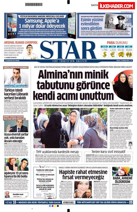 Gazetelerin bugünkü manşetleri ( 25/8) galerisi resim 20