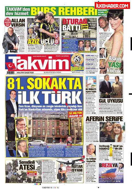 Gazetelerin bugünkü manşetleri ( 25/8) galerisi resim 21