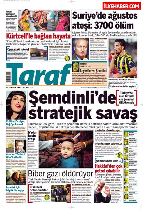 Gazetelerin bugünkü manşetleri ( 25/8) galerisi resim 22