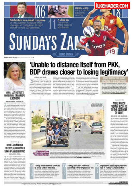 Gazetelerin bugünkü manşetleri ( 25/8) galerisi resim 23