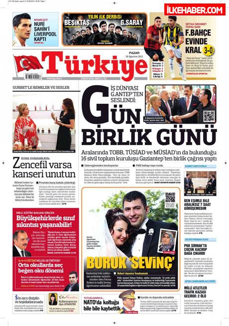 Gazetelerin bugünkü manşetleri ( 25/8) galerisi resim 24