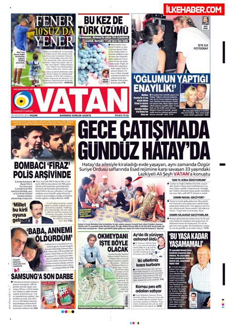 Gazetelerin bugünkü manşetleri ( 25/8) galerisi resim 25