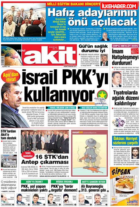 Gazetelerin bugünkü manşetleri ( 25/8) galerisi resim 26