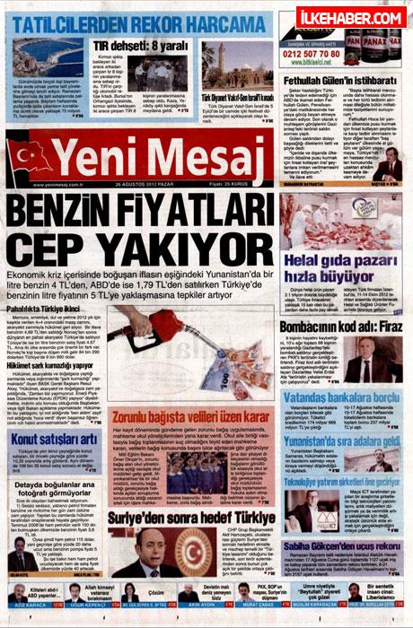 Gazetelerin bugünkü manşetleri ( 25/8) galerisi resim 29