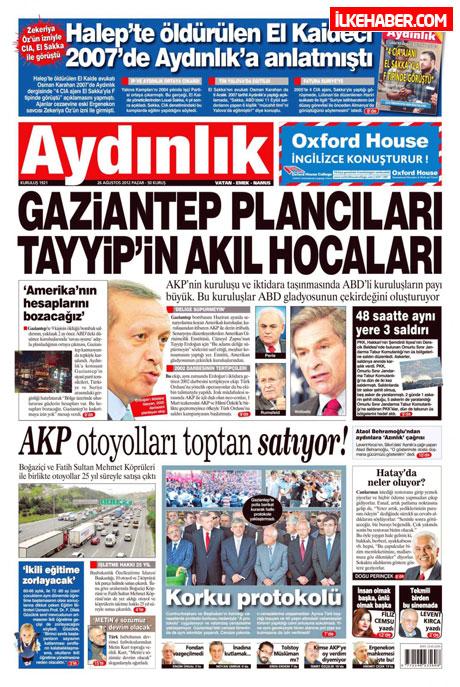 Gazetelerin bugünkü manşetleri ( 25/8) galerisi resim 3