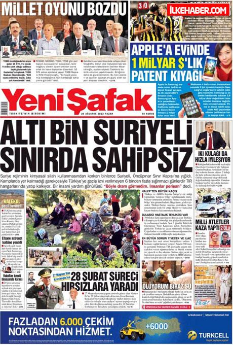 Gazetelerin bugünkü manşetleri ( 25/8) galerisi resim 30