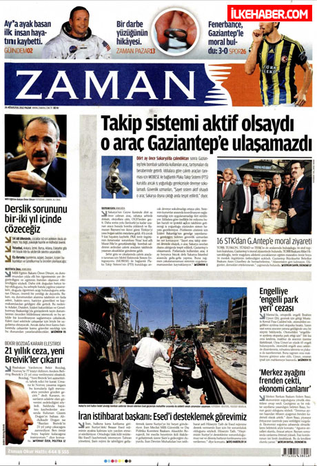Gazetelerin bugünkü manşetleri ( 25/8) galerisi resim 32